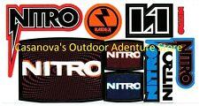 Nitro Snowboards & Raiden Snowboard Bindings 10-Logo Sticker/Decal Sheet!