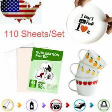 Sublimation Transfer Paper Heat Dye A4 110 Sheets For Printing Diy T Shirt Mug
