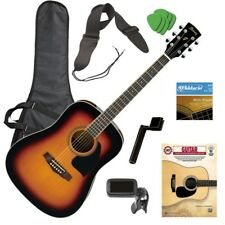 Ibanez PF15 Acoustic Guitar - Vintage Sunburst GUITAR ESSENTIALS BUNDLE