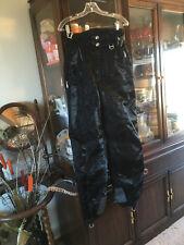 Descente Ski Snowboard Pants Shiny Black Womens Small Size 4-6
