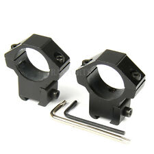 "1 Pair 1"" Diameter 3/8"" 10mm Dovetail Scope Ring Mount with Fixed Pin"