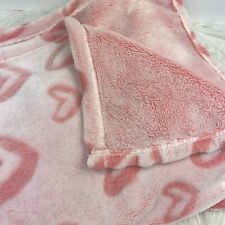 Vera Bradley Throw Blanket Pink Hearts Super Soft Clean Print