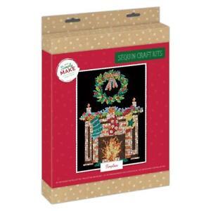 Docrafts Simply Make Christmas Sequin Art - Fireplace DSM 105156