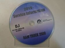 2015 Dodge RAM TRUCK 2500 Service Information Repair Service Manual CD DVD NEW
