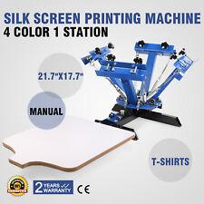 DIY Presse Machine de Sérigraphie 4 Couleur 4C1P Table Presse à Chaud 1 Plateaux
