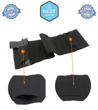 Belly Band Gun Holster Concealed Carry Weapon Protection Safety Strap Black