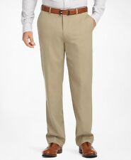 BROOKS Brothers BEIGE Pants 1818 MADISON Fit SZ Size WOOL Flat FRONT Mens 34 28*