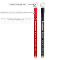 2 Pièces 6AWG Câbles de Batterie Souple Et Léger Parfait pour Le Câble de