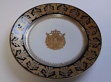 NAPOLEON BONAPARTE CORONATION PLATE USED BY IMPERIAL FAMILY FONTAINEBLEAU SIGNED