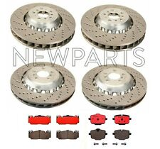 For BMW F06 F10 M5 Front Rear Full Brake Kit X-Drilled Disc Rotors Ceramic Pads