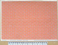 "1/12th dolls house ""Facing brick - terracotta"" self adhesive vinyl - A4 sheet"
