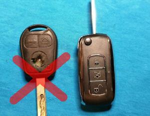 Range Land Rover L322 Remote Flip Key Fob Upgrade Kit 2002-2005 NO CHIP 433mhz