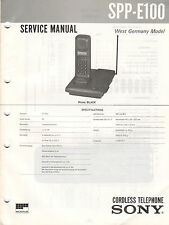 SONY - SPP-E100 - Service Anleitung Manual - B2305