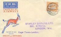 """SOUTH AFRICA 1932 superb First Flight with Imperial Airways """"CAPE TOWN - LONDON"""""""