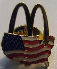 MCDONALDS ARCHES OVER AMERICA AMERICAN FLAG HAT LAPEL OLYMPIC TRADING CREW PIN