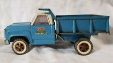 Vtg 1960's Blue White Tonka Hydraulic (working) Dump Truck Pressed Steel 13190