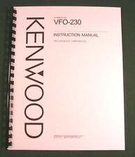Kenwood VFO-230 Instruction Manual - Premium Card Stock Covers & 32lb Paper!