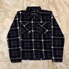 Vintage Gap Fleece Plaid Flannel Full Zip Up Sweater Size Men's Medium