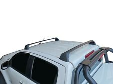 Aerodynamic Roof Rack Cross Bar for Holden Colorado 12-19 RG Flush End Black