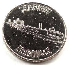Belgian Heritage Collectors Coin SEAFRONT ZEEBRUGGE 31mm 13g Alpaca E9.6