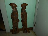 "2 VTG 1964 BURWOOD 4246 & 4247 REVOLUTIONARY SOLDIERS LARGE 25 1/4"" WALL PLAQUES"