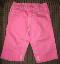 OshKosh Bgosh Girls Toddler Size 2T Pink Denim Jeans Excellent Used Condition