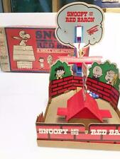 Snoopy Red Baron Skill Action Game Peanuts 1970 Milton Bradley 4067 Marbles Orig