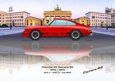 Print on Canvas Porsche 911 Carrera RS 1973 Red /  Black, Brandenb 180 x 120