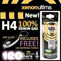 NEW! RING XENON ULTIMA H4 PERFORMANCE BULBS +120% BRIGHTER & ROAD LEGAL!