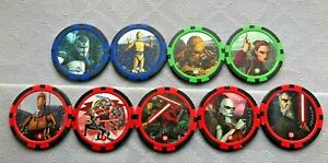 STAR WARS, THE CLONE WARS POKER CHIP GOLF BALL MARKER - CHOOSE FROM DROP-DOWN