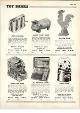 1955 PAPER AD Marx Toy Donald Duck Bank Venda Wesatern Stamping Cash Register