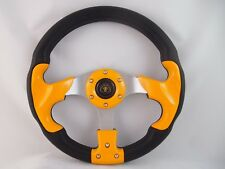 """12.5"""" YELLOW Steering Wheel with Adapter for  RZR 570 800 900 1000"""