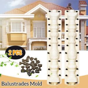 80cm Roman Column Mold Balcony Garden Fence Cement Railing Plaster Concrete %