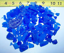 1/4 Lb cobalt Dark Blue Seaglass Sea Glass - Seashell Weddings Crafts And More