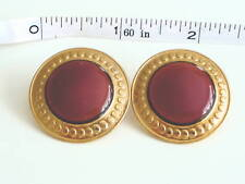 Pierced Designer Earrings Carmel Colored Stone