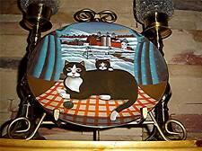 Eyes Of The Seasons Winter Steven Klein Black Tuxedo Cat Kitten Kitty Plate