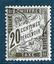 TRES BEAU TIMBRE TAXE N° 17 OBLITERE