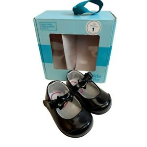 Stride Rite Mirren Baby Girl Sz 1 Black Mary Jane Shoes New In Box 0 - 3 Months
