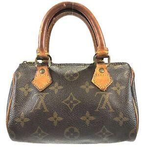 100% authentic Louis Vuitton Monogram Mini Speedy M41534 handbag pouch u 117-1-z