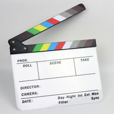 Movie Color Strip Film Slate Clapper Clapboard fr 4K GoPro Camera Production BMC