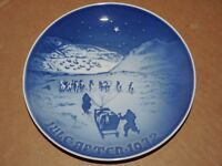 Bing and Grondahl B & G 1972 Christmas Plate Denmark Copenhagen