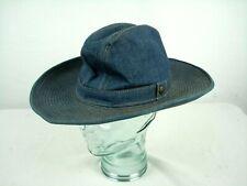 "Vintage 70s Levi's Cowboy Western Denim Hat 7 1/4"""