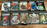 Lot of 10 DC GRAPHIC NOVEL COLLECTION HARDCOVER SUPERMAN BATMAN WONDER WOMAN NEW