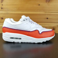 New Nike Air Max 1 SE Women's White Team Orange Lifestyle 881101-102 Size 6