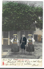 Dutch Group in Traditional Costumes, Vierlander im Costum PPC, UB, 1906 PMK
