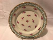 """KPM Berlin Kurland Pattern Deep Well 8.25"""" Plate Bowl with HP Rose Motif"""