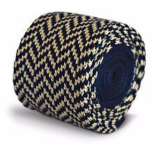 Thomas Frederick a maglia Skinny Blu Navy E AVORIO PANNA Herringbone TIE ft3304
