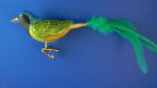 Green Jay Bird Old World Christmas Ornament Blown Glass Tree Animal NWT 18100