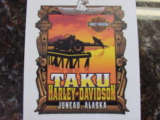 HARLEY DAVIDSON*TAKU HD*JUNEAU,ALASKA*4 INCH BY 3 1/4 INCH*DEALER*DECAL*NEW
