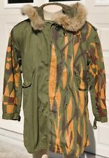 Korean War US Army M-1951 FISH TAIL PARKA 100% Complete Liner Hood Camouflaged